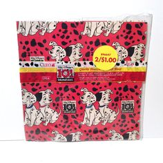 Vintage New in Package Disney 101 Dalmatians Scrapbook, Crafting, Wrapping Paper by LOVELADYBIRDVINTAGE on Etsy