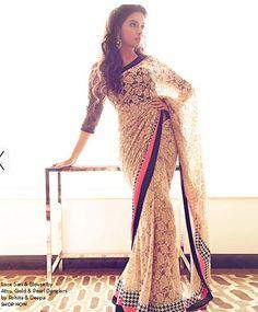 Sari and Blouse by ATSU. Shop now at perniaspopupshop.com
