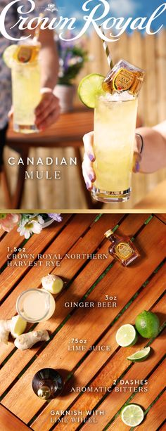 As the seasons change, swap out your hot cocktails for some Canadian Mules made with the smooth flavor of Crown Royal Northern Harvest Rye. Combine .75 oz fresh lime juice, 3 oz ginger beer, and 2 dashes aromatic bitters. Then, carefully dip a mini bottle of Northern Harvest Rye into the glass. Get outdoors, soak up the spring sun, and enjoy the undeniable smoothness of Crown Royal.