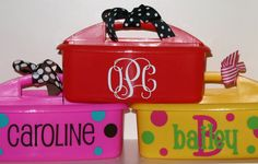 Personalized Caddy  Great for Camp or by happythoughtsgifts
