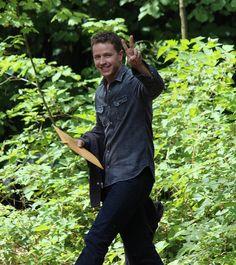 Josh Dallas on set (July 14, 2015)