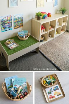 Playroom organization Your most frequently asked questions about toy rotation ANSWERED! Learn how we make toy rotation work for our family with a preschooler and toddler! Nursery Storage, Toy Storage, Storage Ideas, Cube Storage, Creative Storage, Closet Storage, Montessori Playroom, Toddler Playroom, Montessori Toddler Bedroom