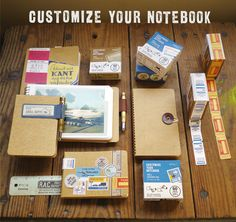 Accessories for a travel journal