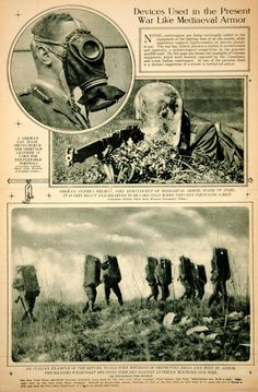 """WWI, 1917:""""Devices Uses in the Present War Like Mediaeval Armor"""""""