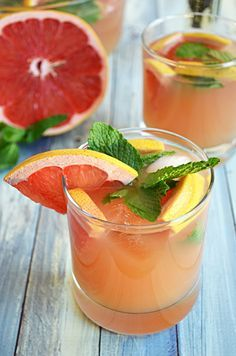 Ruby Red Champagne Punch.