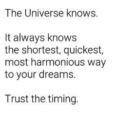 I trust. ❤️ #universe #trust #divine #timing #life #love #quote #Regram via @thatjenngrl