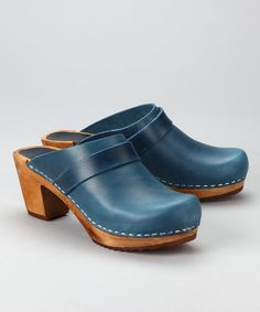 Sanita Blue Square Open Clog - Women | zulily