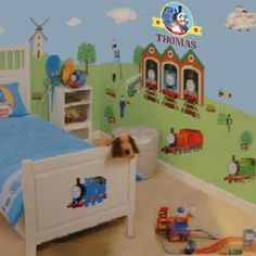 Image Detail for Decorating Trains Wall Murals Kids Bedroom Ideas