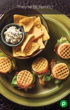 Mini Waffle BLTs: Waffles and BLTs are combining their awesomeness.