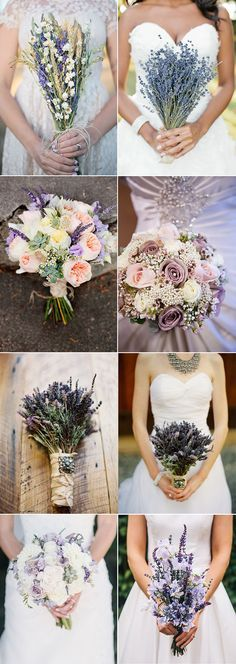 lavender inspired wedding bridal bouquets ideas 2015