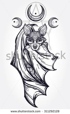 Bat Tattoo Stock Vectors & Vector Clip Art | Shutterstock