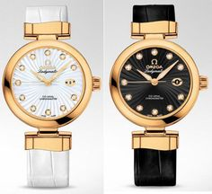 Montres Omega Ladymatic blanche & noire