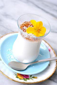 Coconut Panna Cotta With Coconot Blossom Sugar