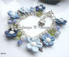 Ref BB75-03 PC Blue Flower bracelet