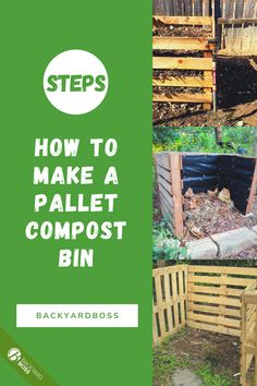 This is the simplest of DIY projects. It's also step one toward saving money and building a healthier garden. Backyard Furniture, Furniture Ideas, Diy Garden Projects, Pallet Projects, World 2020, Pallets Garden, Compost, Saving Money, Easy Diy