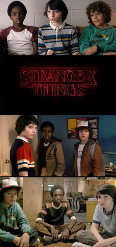 Mike, Dustin and Lucas from 'Stranger Things' (2016). Costume Design by Malgosia Turzanska and Kimberly Adams-Galligan.