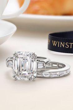 30 Incredible Harry Winston Engagement Rings ❤ harry winston engagement rings radiant cut diamond wedding set white gold #weddingforward #wedding #bride