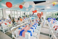 Basti's Nautical Themed Party – Venue Setup