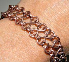 Bracelet Gallery - Art -Z Jewelry Copper Jewelry, Wire Jewelry, Jewelry Crafts, Beaded Jewelry, Jewellery, Diy Schmuck, Schmuck Design, Handmade Bracelets, Handcrafted Jewelry