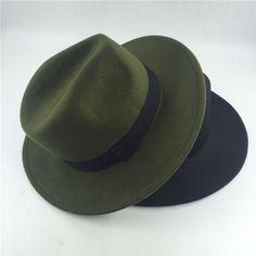 28b867e9d29 2017 Fashion Fedora Hat For Women Men Vintage Jazz Hat chapeu homme panama  Church women fall fedora top Hats green black pink