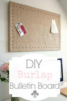 DIY Burlap Bulletin Board Makeover - Nest of Bliss