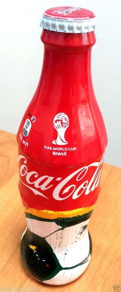 KAZAKHSTAN: BRAZIL 2014 glass Coca-Cola Bottle World Cup Soccer FIFA BRAZIL 2014 #CocaCola #Bottle