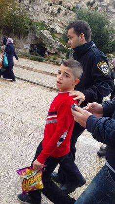 Imagine: He goes to jail and holding in his hands some chips. Childhood #BDS #IsraeliApartheidWeek