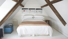A new destination for London's artistically inclined set: Durslade Farmhouse in Somerset, a bucolic center dreamed up by a pair of art-dealing romantics. Attic Loft, Loft Room, Attic Rooms, Rustic Home Design, Rustic Homes, Georgian Homes, Interior Decorating, Interior Design, Rooms Home Decor