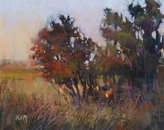 'The Magic Hour Returns'         8x10 pastel  ©Karen Margulis - Painting My World: Sunday Studio: Live Pastel Painting Demo Marsh Sunset