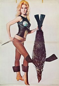 "Jane Fonda in ""Barbarella"" (Paramount, 1968). Personality Poster by David Hurn."