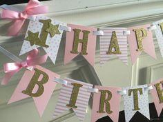 Twinkle Twinkle Little Star Banner Birthday by APartyWithPaper First Birthday Banners, Birthday Star, Baby Girl 1st Birthday, Glitter Birthday, First Birthday Parties, Birthday Ideas, Star Party, Twinkle Twinkle Little Star, 1st Birthdays