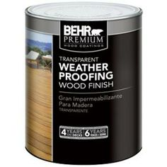 BEHR Premium 1-qt. Natural Premium Transparent Weatherproofing Wood Finish-50004 at The Home Depot