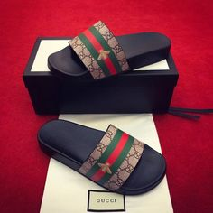 Gucci man shoes summer casual slippers slides sandals Gucci Shoes Latest and Gucci Slipper, Slipper Sandals, Flats, Gucci Slides Women, Men Slides, Sandalias Teva, Zapatillas Louis Vuitton, Nike Slippers, Gucci Men