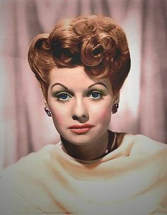 Todays hair inspiration from Lucille Désirée Ball (August 6, 1911 – April 26, 1989)
