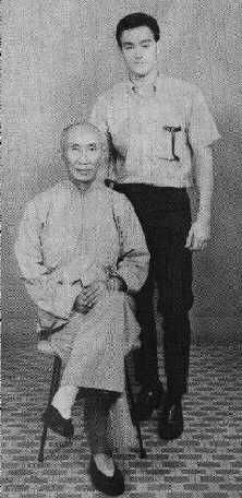 Bruce Lee with his Wing Chun master Yip Man