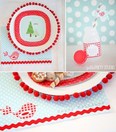 Cutest #DIY charger + cake stand w/ FREE printables for your holiday parties. Created by Petite Party Studio on iheartnaptime.net