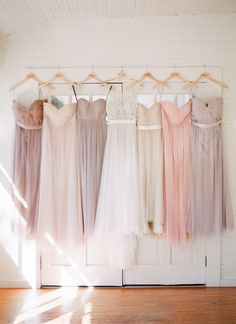 pretty pastel bridesmaid dresses | J Layne Photography