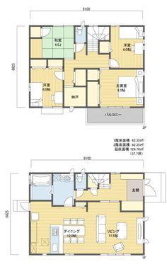 間取り 2階建 30~40坪 東玄関