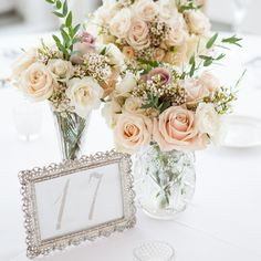 Lovely trios of floral centerpieces | Melissa Robotti Photography | Fancy Flowers