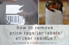Cleaning the labels and the sticky residue off of jars can be an intimidating and time-consuming process. Click the link to see how to remove sticker residue using just one simple ingredient in your home already.