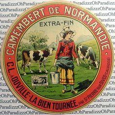 Etiquette Camembert Ouville-La Bien Tournée