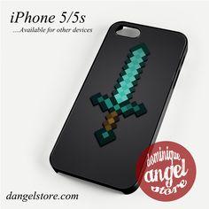 Minecraft Sword (2) Phone case for iPhone 4/4s/5/5c/5s/6/6 plus