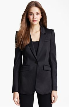 Free shipping and returns on Burberry London Satin Tuxedo Jacket at Nordstrom.com. Playful pickstitching and round fabric buttons detail a lustrous satin tuxedo jacket structured with strong shoulders and shapely seams.