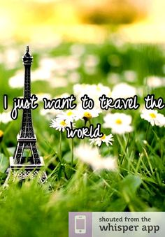 I just want to travel the world