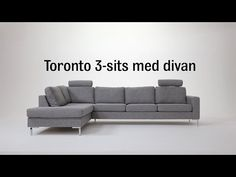 Produktbild - Toronto, 3-sits soffa med divan vänster Toronto, Couch, Grey, Furniture, Home Decor, Gray, Settee, Decoration Home, Sofa
