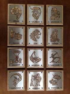 👨🏭👩🏭 [Réalisation] ⛎♈️♉️♊️♋️♌️♍️♎️♏️♐️♑️♒️♓️🆔⚛️ Les signes du Zodiaque vus par #LeMetalist 🔨 Le client les a accrochés à son mur. Demandez-nous ce que vous voulez, du moment que c'est en métal ! Par ici 👉 www.lemetalist.fr/projet-sur-mesure #création #art #faitmaison #Metal #fer #corten #aluminium #cuivre #metalfabrication #metaldesign