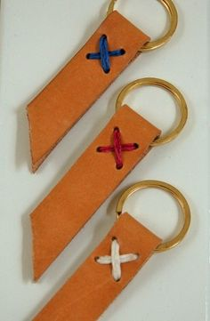 Leather Keyring   Handmade   perfect Gift