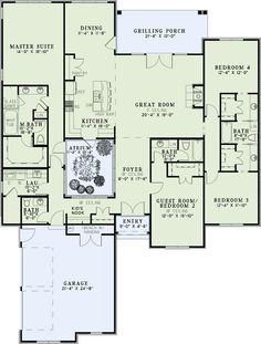 house plan - minus the atrium