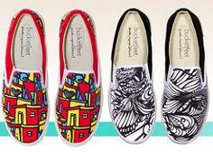 Brazilian street art on shoes.