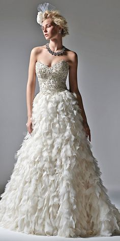 feather wedding dresses 1